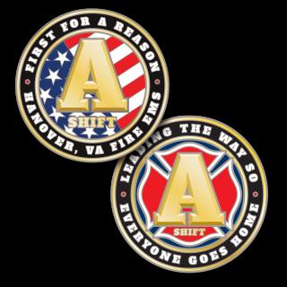 Hanover, VA Fire Challenge Coin