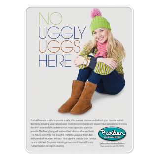 Puritan Cleaners No Uggly Uggs Here ad